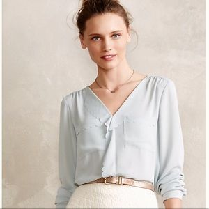 Anthropologie Scalloped Remi Blouse